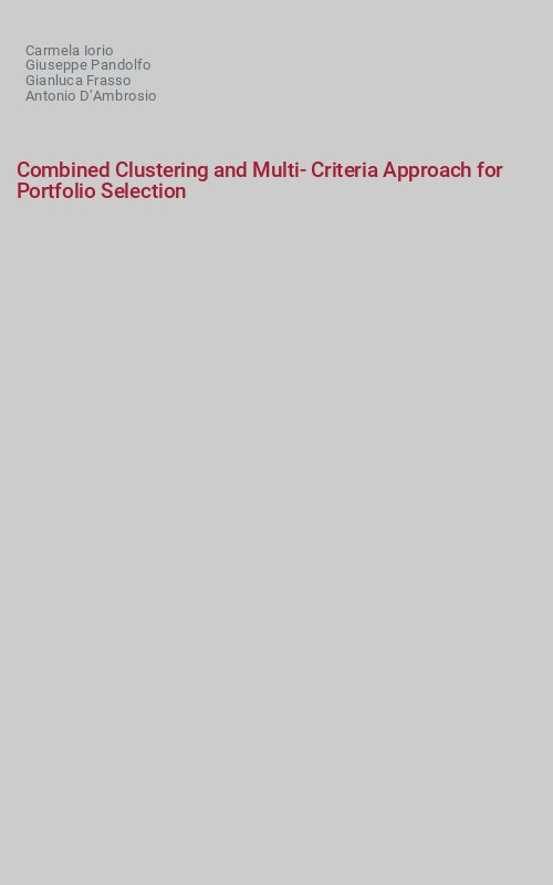 Combined Clustering and Multi-Criteria Approach for Portfolio Selection
