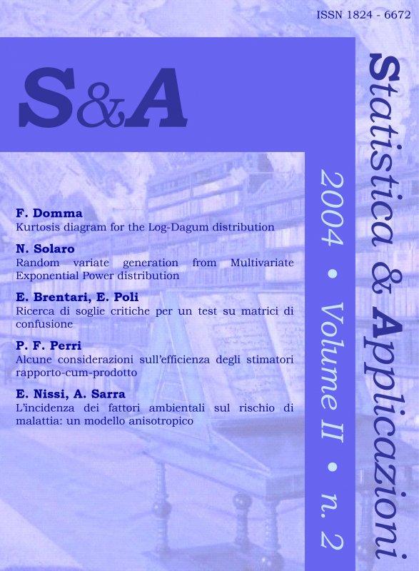 STATISTICA & APPLICAZIONI - 2004 - 2