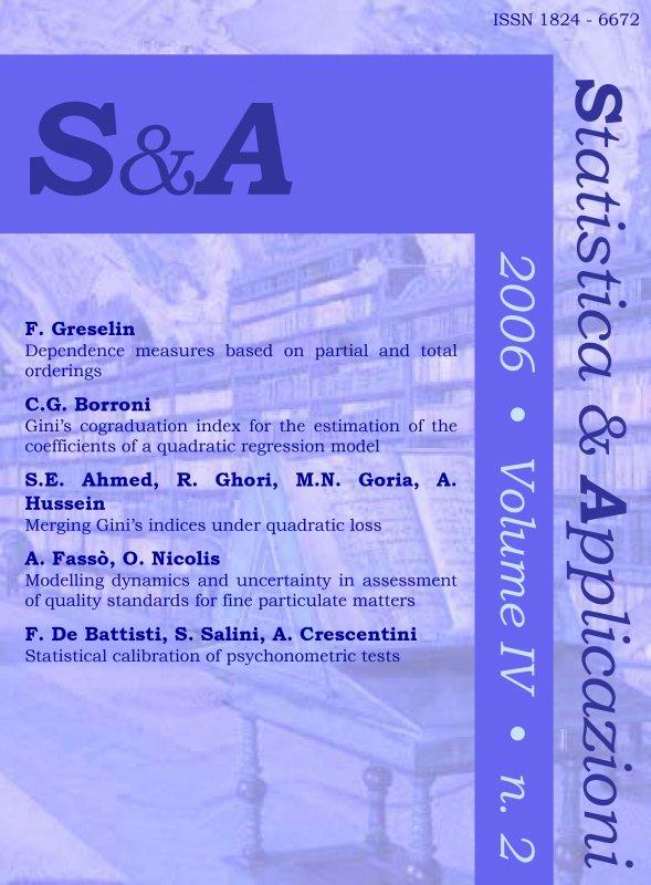 STATISTICA & APPLICAZIONI - 2006 - 2