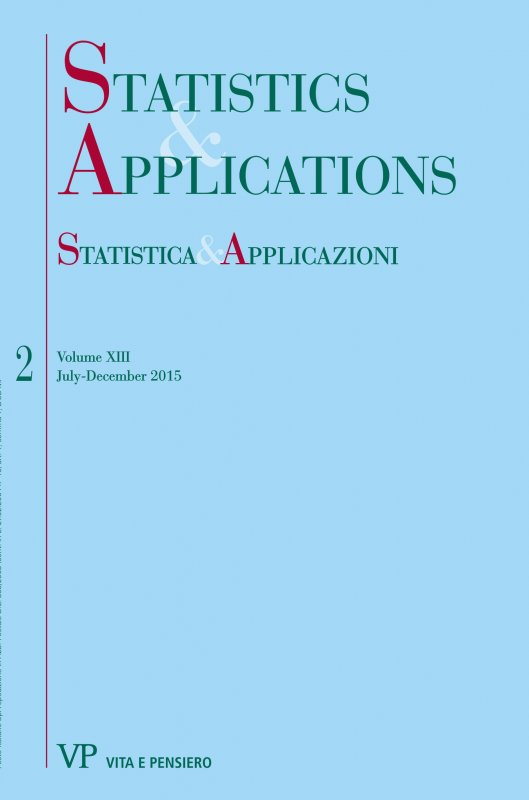 STATISTICA & APPLICAZIONI. Abbonamento annuale - Annual Subscription 2016