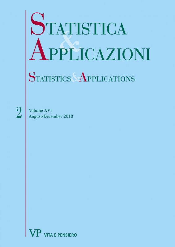 STATISTICA & APPLICAZIONI. Abbonamento annuale - Annual Subscription 2020